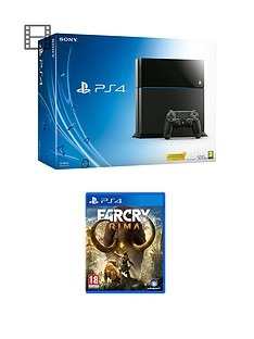 playstation-4-500gb-black-console-with-far-cry-primal-and-optional-extra-dualshock-controller-365-psn-subscription