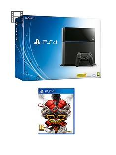 playstation-4-500gb-black-console-with-street-fighter-5-and-optional-extra-dualshock-controller-365-psn-subscription