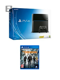 playstation-4-500gb-black-console-with-the-division-and-optional-extra-dualshock-controller-365-psn-subscription