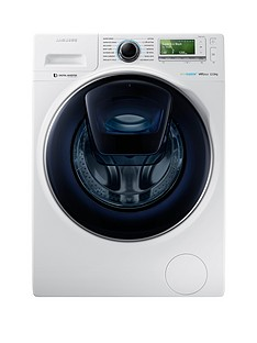 Samsung WW12K8412OW/EU 12kg Load,1400 SpinAddWash™ Washing Machine with ecobubble™ Technology - White, 5 Year Samsung Parts and Labour Warranty