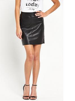 boss-orange-bapali-pu-skirt-black