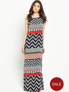 wallis-zig-zag-blocked-maxi-dress