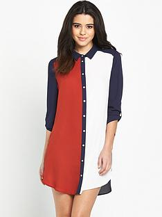 wallis-colourblock-shirt-dress
