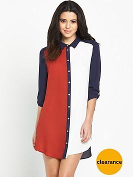 wallis-colourblock-shirt-dress