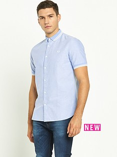 fred-perry-flat-knit-collar-oxford-short-sleeved-shirt