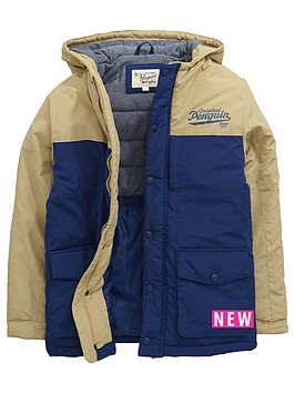 penguin-hooded-colourblock-padded-coat-blue-depths