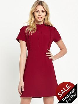 v-by-very-high-neck-ruffle-tea-dress