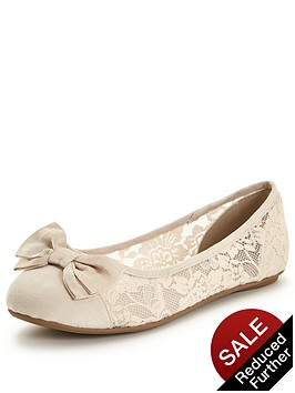v-by-very-brook-lace-ballerina-with-bow