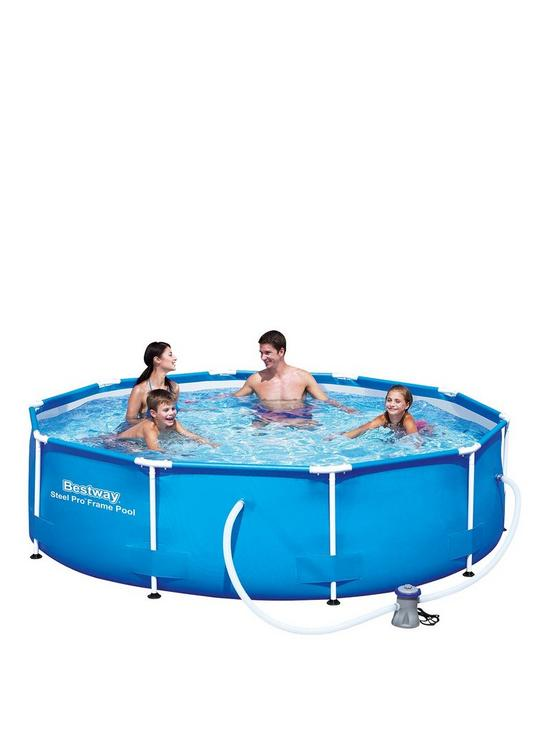 Bestway 10X30 Steel Pro Frame Pool Set | very.co.uk