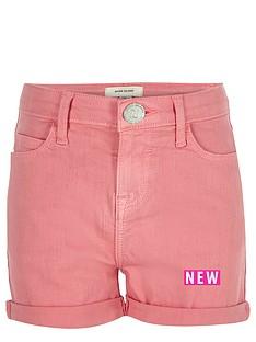 river-island-girls-pink-shorts