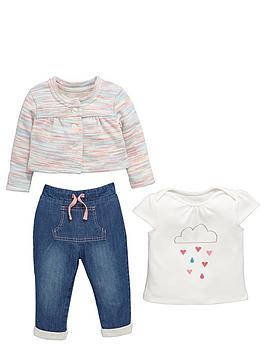 ladybird-baby-girls-knitted-cardigan-t-shirt-and-jeans-set-3-piece