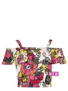 river-island-girls-floral-bardotnbspruffle-crop-top