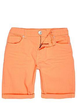river-island-boys-orange-denim-skinny-shorts