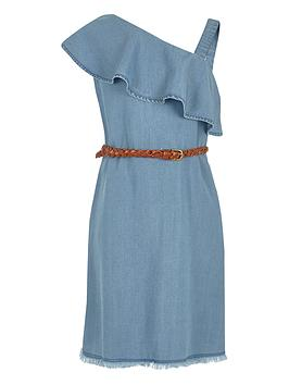 river-island-girls-denim-one-shoulder-dress