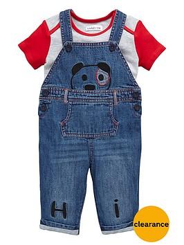 ladybird-baby-boys-panda-denim-dungarees-and-t-shirt-set