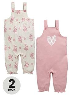 ladybird-baby-girls-heart-and-flower-dungarees-2-pack