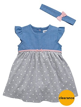 ladybird-baby-girls-chambray-and-jersey-dress-with-headband