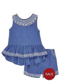 river-island-mini-girls-aztec-trim-top-and-shorts-set