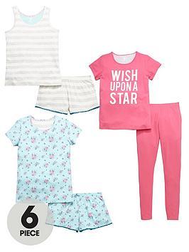 v-by-very-girls-pyjamas-set-6-piece