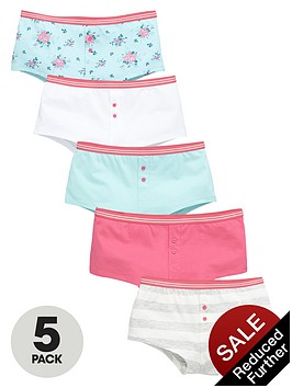 v-by-very-girls-floral-and-colour-shortiesnbspbriefs-5-pack