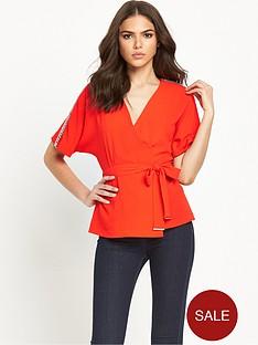 river-island-embellished-trim-belted-waist-kimono-wrap-top