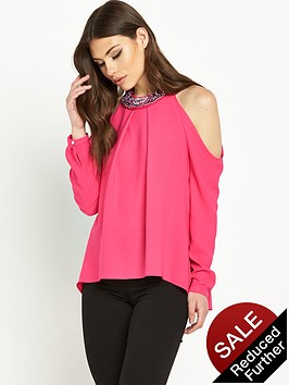 river-island-cold-shoulder-embellished-top