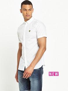 lyle-scott-lyle-amp-scott-short-sleeve-square-dot-shirt