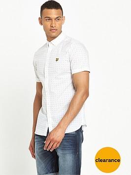 lyle-scott-short-sleeve-square-dot-shirt