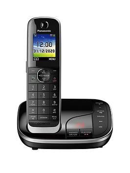 Panasonic Kx-Tgj320Eb Single Cordless Telephone With Answering Machine - Black