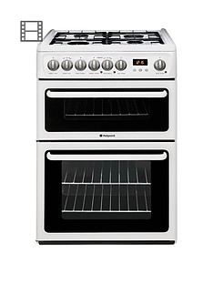 hotpoint-hag60p-60cm-double-oven-gas-cooker-with-fsd-white