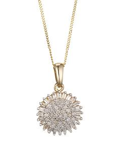 love-diamond-9-carat-yellow-gold-50-point-diamond-cluster-pendant