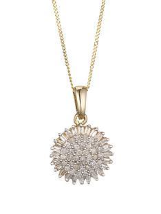 love-diamond-9-carat-yellow-gold-50-point-diamond-cluster-pendant