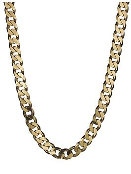 love-gold-9-carat-yellow-gold-approx-4oz-solid-diamond-cut-curb-chain