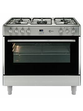 flavel-fl95frxp-single-oven-fsd-dual-fuel-range-cooker-stainless-steel