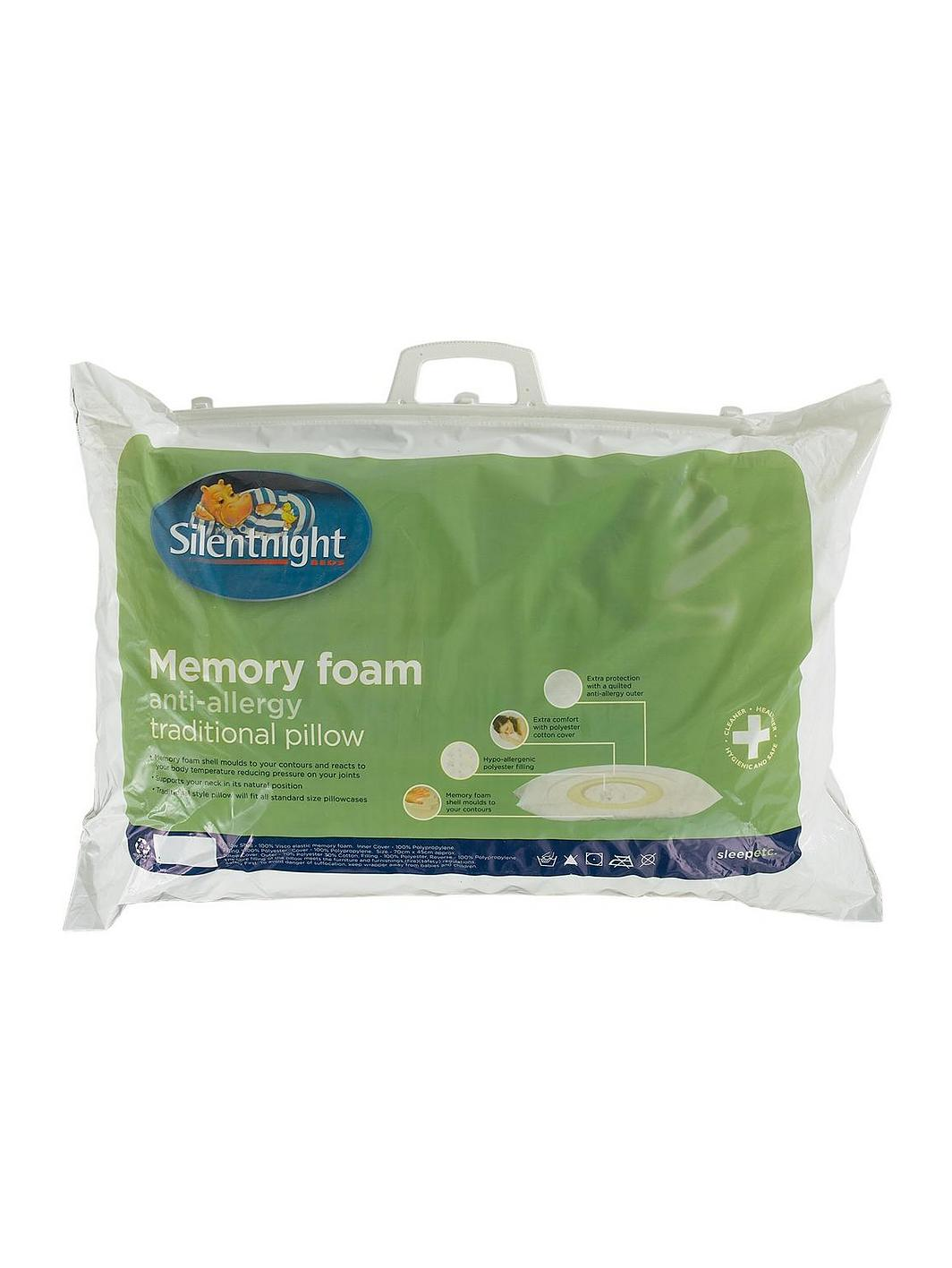 Silent Night Traditional Memory Foam Pillows : Silentnight Anti-Allergy Memory Foam Pillow very.co.uk