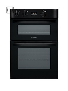 hotpoint-dh53ks-60-cm-built-in-electric-double-oven-black