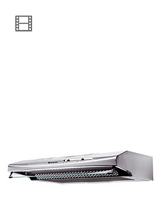hotpoint-first-edition-htv10s-60cm-visor-cooker-hood-stainless-steel
