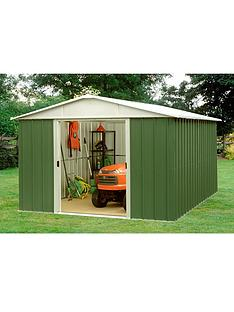 yardmaster 94 x 75 ft apex roof metal garden shed