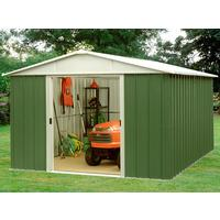 yardmaster 127x93ft apex roof metal garden shed verycouk