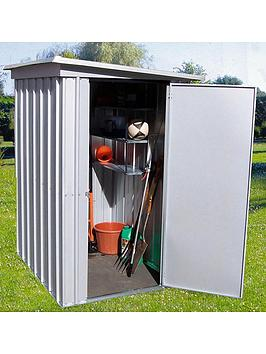 yardmaster-39-x-52ft-single-door-metal-pent-roof-shed-with-floor-supprt-frame