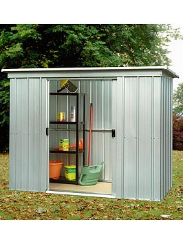 yardmaster-78-x-39ft-double-door-metal-pent-roof-shed-with-floor-frame