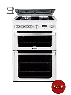 hotpoint-hug61p-60cm-double-oven-gas-cooker-white