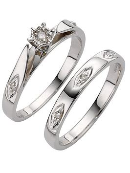 love-diamond-9-carat-white-gold-5-point-diamond-bridal-set