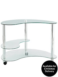 curved-shaped-glass-computer-desk