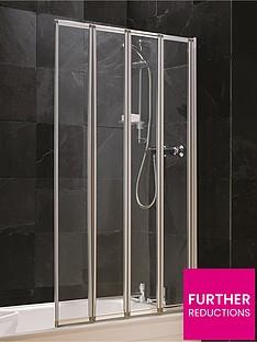 aqualux-4-fold-shower-screen-silver