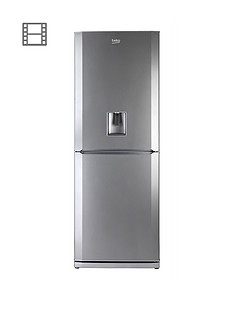 beko-cfd6914aps-60cm-frost-free-fridge-freezer-next-day-delivery-silver