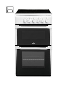 indesit-it50cws-50cm-single-oven-electric-cooker-with-ceramic-hob-white