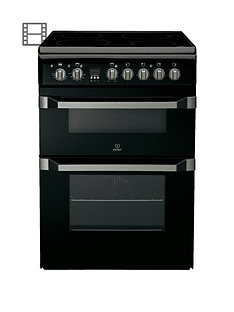 indesit-id60c2ks-60cm-ceramic-hob-double-oven-electric-cooker-black