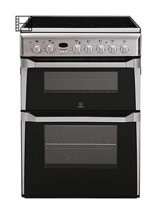 indesit-id60c2xs-60cm-ceramic-hob-double-oven-electric-cooker-stainless-steel