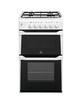 indesit-it50gw-50-cm-twin-cavity-gas-cooker-white